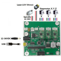 3 Axis GRBL 0.9J CNC Router Machine Laser Engraver Control Board,DIY USB Port Controller Card