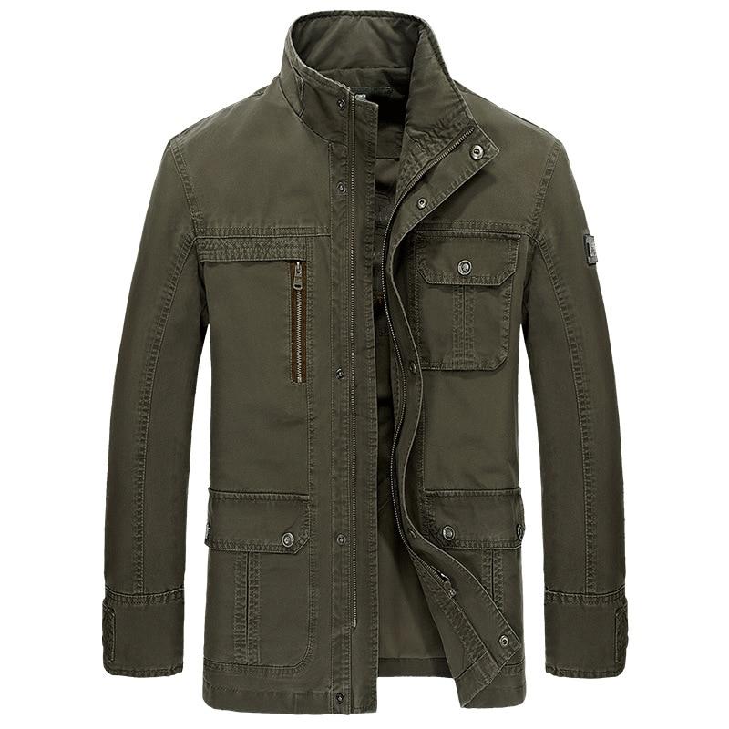 Erkek Kıyafeti'ten Ceketler'de Marka Askeri Ceket Erkek Standı Yaka Cepler Fermuar Orta Uzunlukta Rahat Sonbahar Dış Giyim Erkekler Ceket Ceket Jaqueta Masculina'da  Grup 1