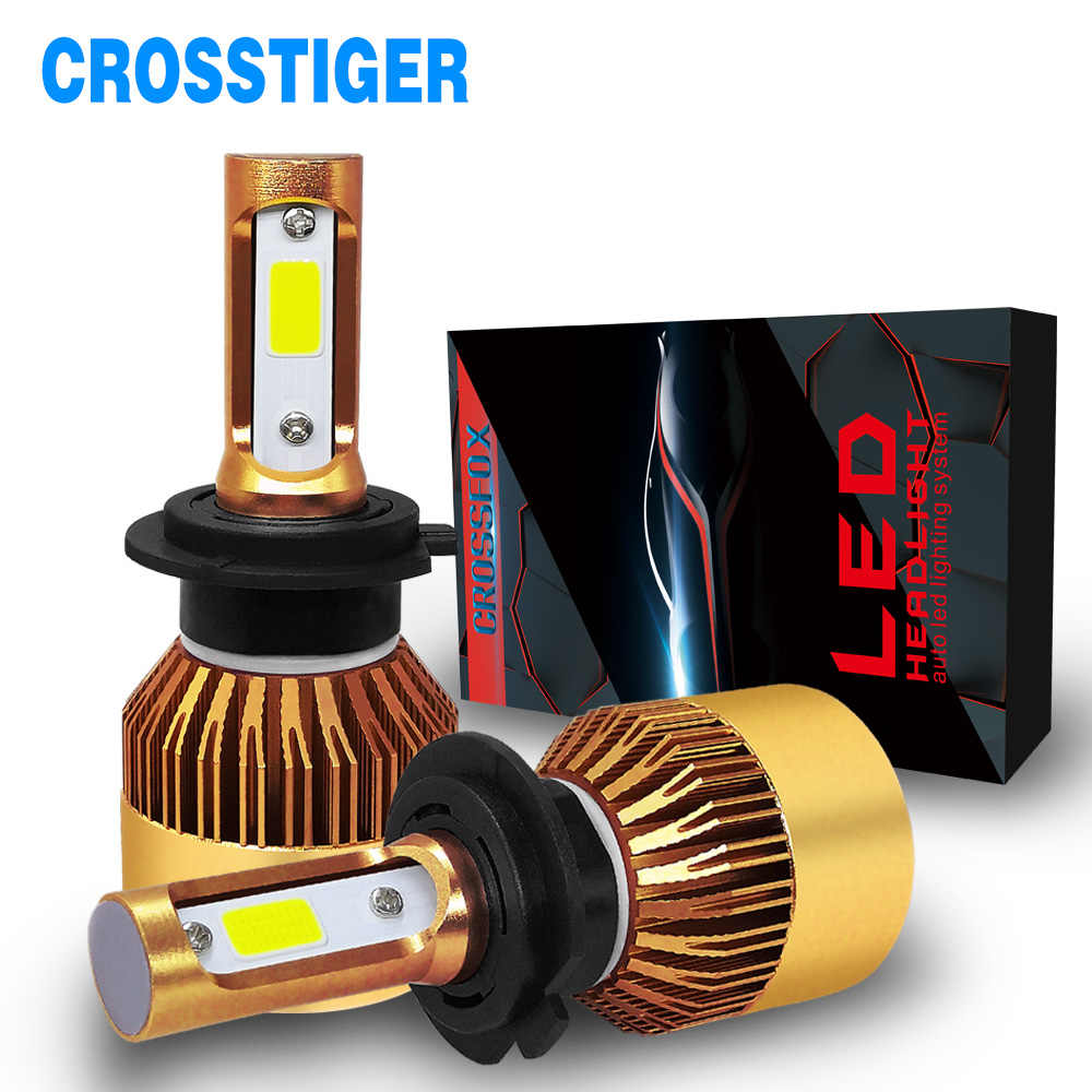 2x H4 H7 H11 Led Motorcycle Car Light Auto Gold Headlight Bulb H1 9005 9006 Double 11 Daytime Running Light LED Auto Accessories
