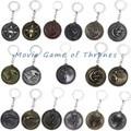 Game of Thrones House Targaryen Emblems Three-Headed Dragon Keychain Stark Direwolf Key Holder Souvenir Lannister Lion Key Rings