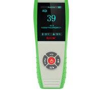 Качество воздуха в помещении метр 7 в 1 цифровой Температура измеритель влажности PM2.5 PM0.3 PM10 aqi формальдегида детектор газа