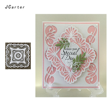 JCarter Lace Square Frame Cutting Dies for Scrapbooking DIY Album Embossing Folder Cards Paper Photo Template Background Stencil