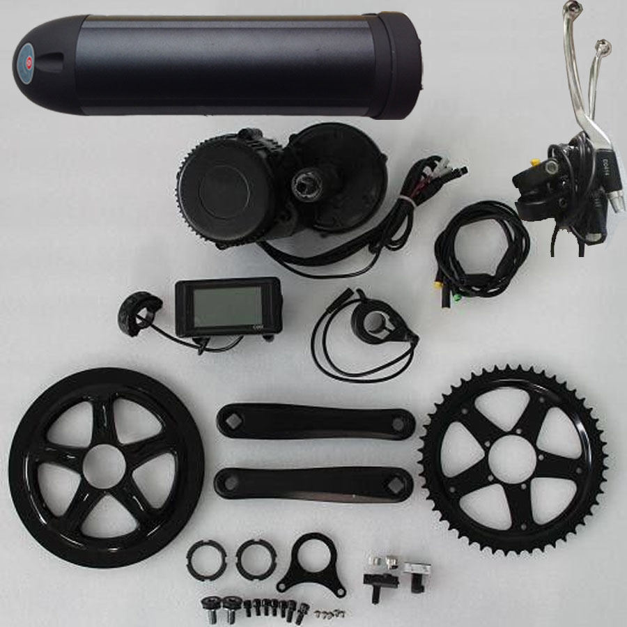 48V 750W C965A BBS02 8fun /bafang mid crank drive motor ebike kit+48V 13Ah lithium ion Bottle ebike battery free shipping 2017 china cheapest ebike crank motor