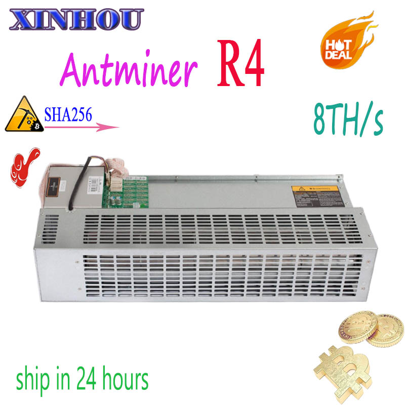 Mineur Asic utilisé Antminer R4 8TH/s mineur silencieux conçu pour un usage domestique Bitcoin BCH BTC minière économique que S9 T17 S17 S15 S11 T3
