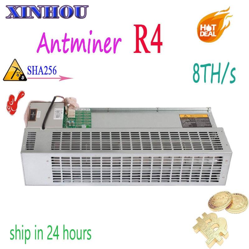 Utilizados mineiro Asic Antminer R4 8TH/s Bitcoin mineiro projetado para uso doméstico Silencioso BCH Econômica Do Que A Mineração BTC s9 T17 S17 S15 S11 T3