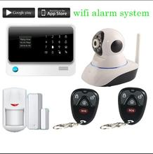 433mhz   2.4G WiFi GSM GPRS Home Security Alarm System English/Russian/Spanish device ip camera wifi Alarm System Security