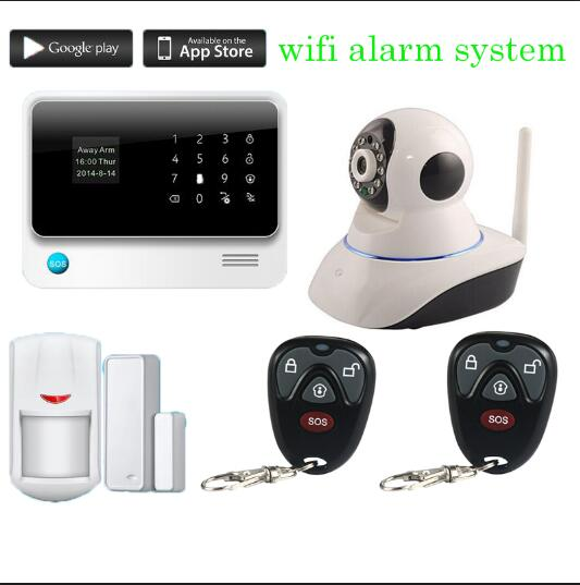 G90B plus WiFi GSM GPRS Home Security Alarm System English/Russian/Spanish voice wifi Alarm System sensor self checking alarm g90b plus home security gsm alarm system with gprs wireless home alarm system support andriod ios app collocation alarm sensor
