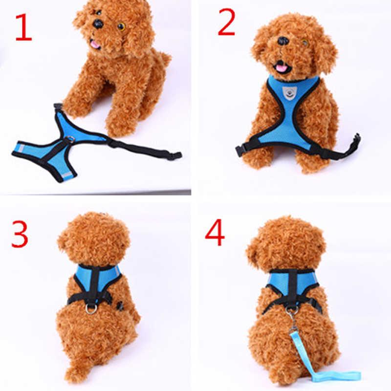 かわいいソフト犬の首輪とリーシュセットチェック柄ペットウォーキングリーダー猫サービス犬のベストハーネス犬のため販売 ZL145-1