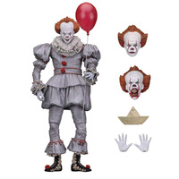 Neca Stephen King's It Pennywise Joker Clown BJD PVC Action Figure Toys Dolls 18cm 7inch Halloween Day Christmas Gifts
