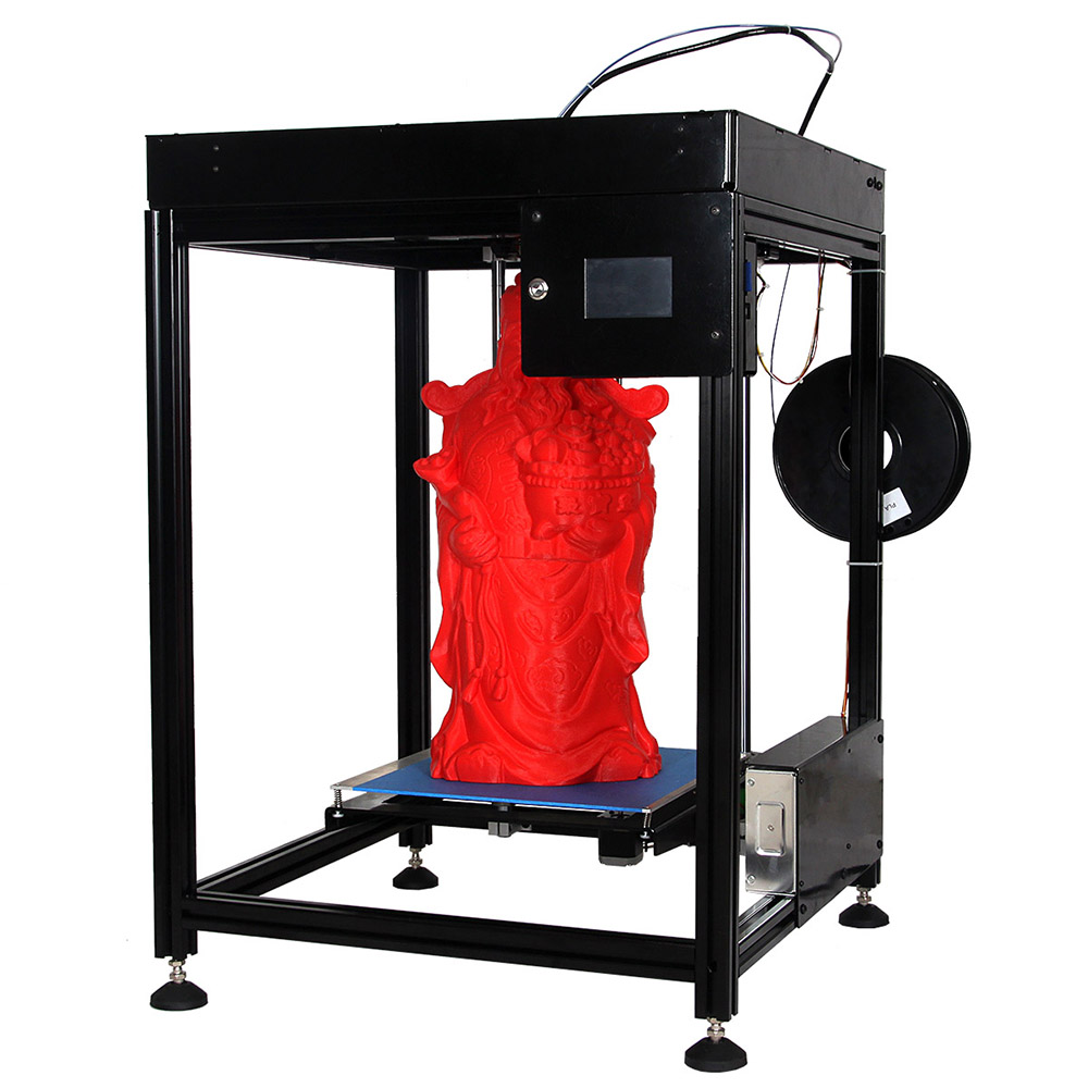 FD300 DIY big size 3D printer with build plate 300*300*500mm flsun 3d printer big pulley kossel 3d printer with one roll filament sd card fast shipping