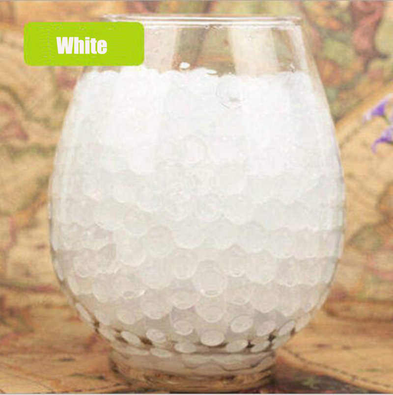 100 pcs/lot Crystal Soil Water Beads Hydrogel Gel Polymer Seeds Flow Mud Grow Ball Beads Orbiz Growing Bulbs Children Toy Ball