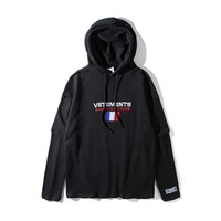 2018 BEST VERSION NEW VETEMENTS Oversized collection Women Men France Embroider hoodies pullover hip hop kanye west Sweatshirts