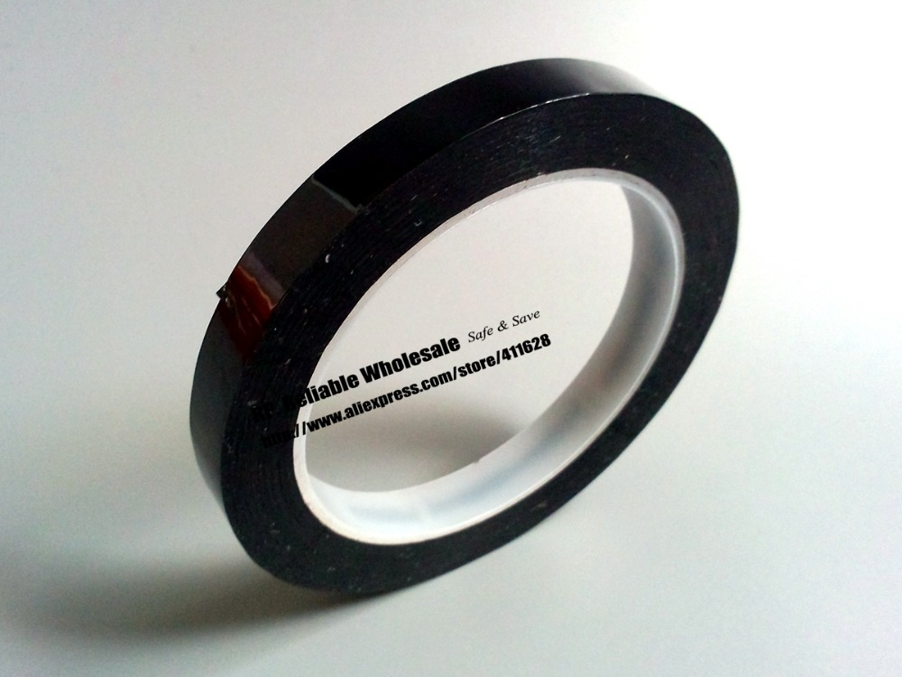 2mm~5mm Choose, 66meters/roll Single Adhesive Mylar Tape For Transformer, Coil, Motor Pack, Insulate , Black