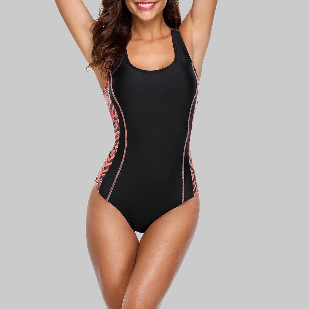 Charmleaks One Piece Women Sports Swimsuit Sports Swimwear Padded Bikini Backless Beach Wear Bathing Suits Monokini 2