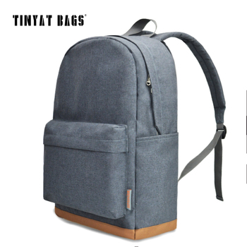 TINYAT Men's 15 inch laptop backpack computer male school backpacks rucksacks leisure for teenage Travel Women Shoulder Mochila  1