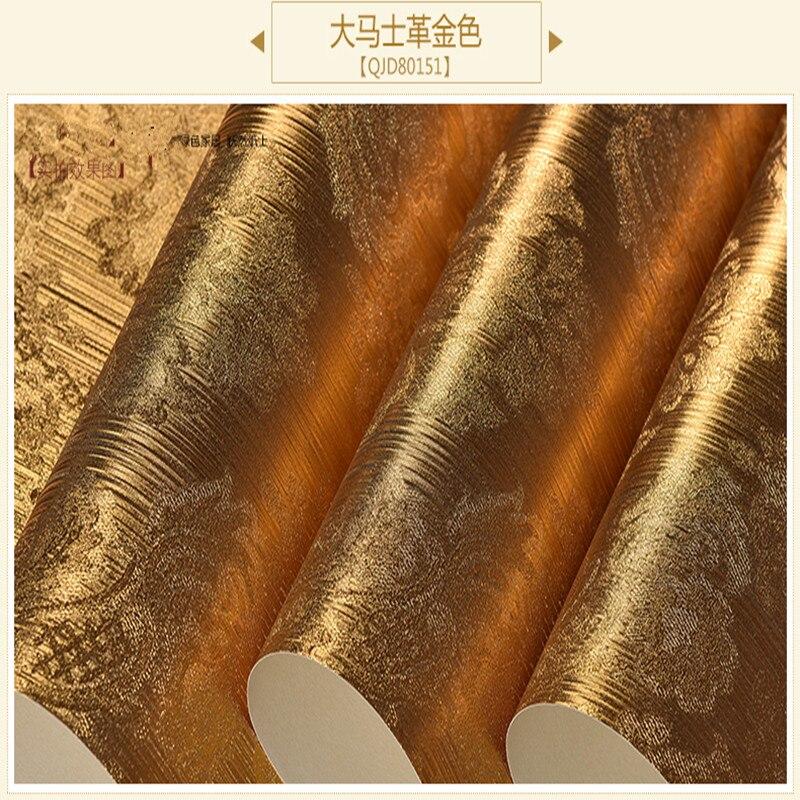 Papier peint doré feuille d'argent hôtel KTV Club clignotant réfléchissant brossé plafond papier peint - 5