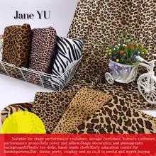 JaneYU Animal print short plush cloth tiger leopard zebra cow fabric savage stage dress
