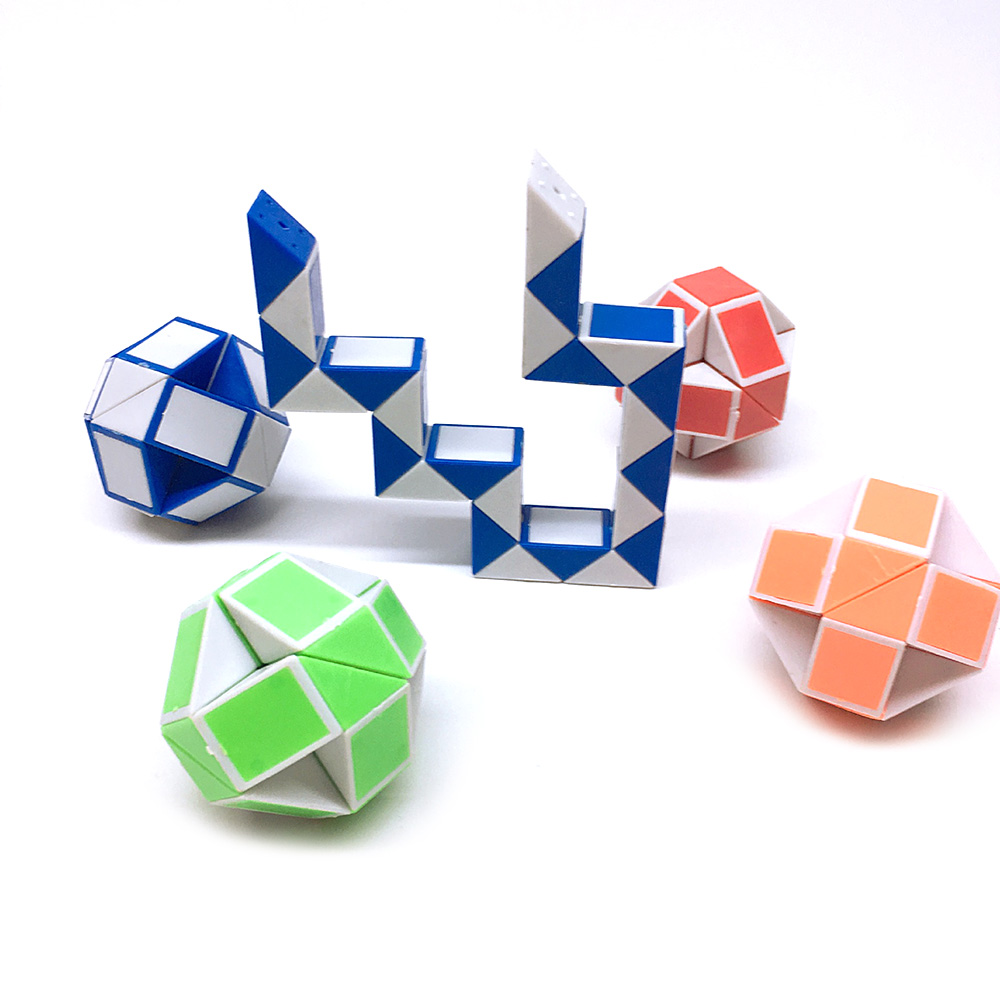 Toys & Hobbies 24 Blocks Ruler Magic Cube Colorful Snake Twist Puzzle Strange-shape Magic Cube Educational Toy For Children Cubo Magico