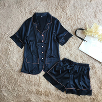 New Women Pajamas Set Attractive Pyjamas Suit Short Sleeve Nightwear 2 Pcs Shirt&pant Home Wear Spa Sleep Set For Ladies M xl