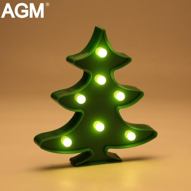 AGM Christmas Tree Shape Lights LED Night Light 3D Letter Standing Lamp  Battery Power For Holiday