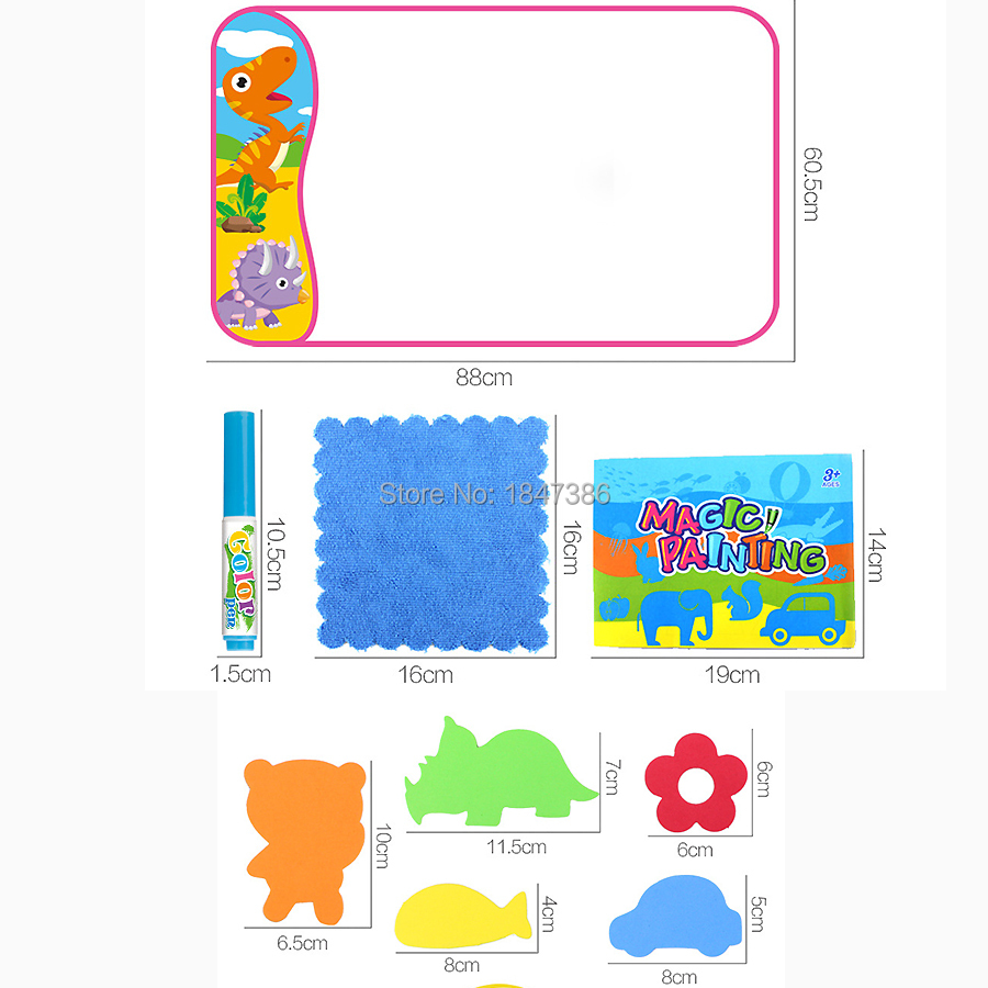 Careful 1pcs Children Writing Doodle Stencil Painting Magnetic Drawing Board Set For Kids Learning & Education Toys Hobbies Discounts Price Office & School Supplies