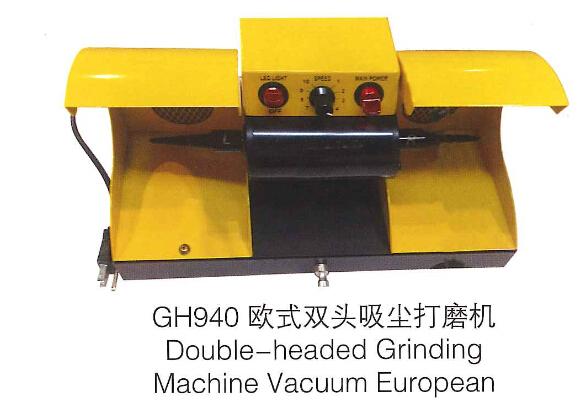 Dupla cabeça de máquina jóias polidor de coletor de pó de polimento motor