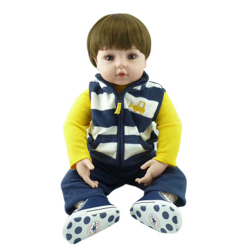 2017 Quality Silicone Cute Babies Alive Boys Toys Gift For Children Reborn Baby Dolls Reborn Babies Doll For Boy Birthday Gift 16 inch silicone reborn babies reborn doll cute full silicone baby doll for children girl birthday gift