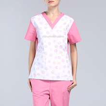 Women scrub set medical clothing hospital uniforme dentist surgical suit nurse uniform medical gown medico lab coat medical robe
