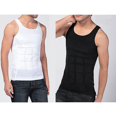 3f8539dd8e Mens Body Slimming Tummy Shaper Belly Underwear Shapewear Waist Girdle  Shirt Vest Chest Belly Waist Boobs Compression M L XL 2XL