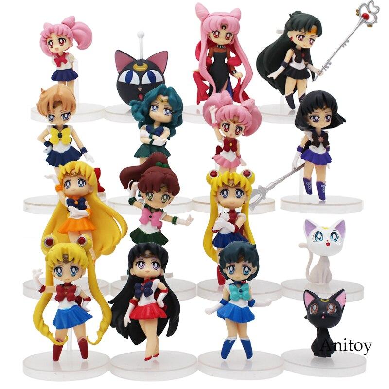 Anime Cartoon Cute Sailor Moon Sailor Jupiter Sailor Venus Q Version Action Figure Toys Dolls 4pcs/set free shipping anime cartoon sailor moon mars jupiter venus mercury q version pvc action figure model toys dolls 6pcs set smfg010 page 7