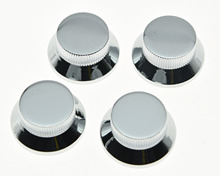 4pcs Chrome Metal LP Top Hat Bell Knobs Guitar Bass Knob for Metric 5.8mm Pots