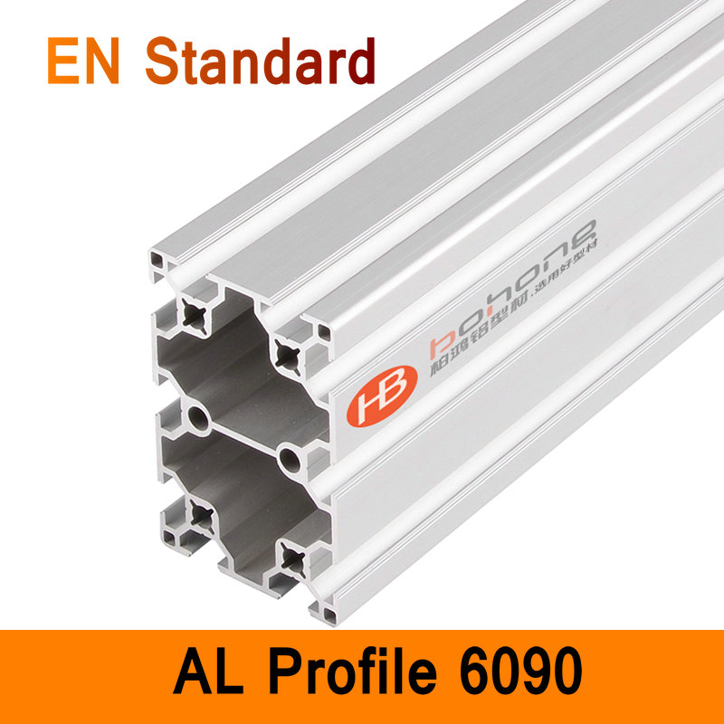 6090 Aluminium Profile EN Standard DIY Brackets Aluminium AL Extrusion CNC 3D DIY Printer Parts Aluminum Frame Pipe T Slot