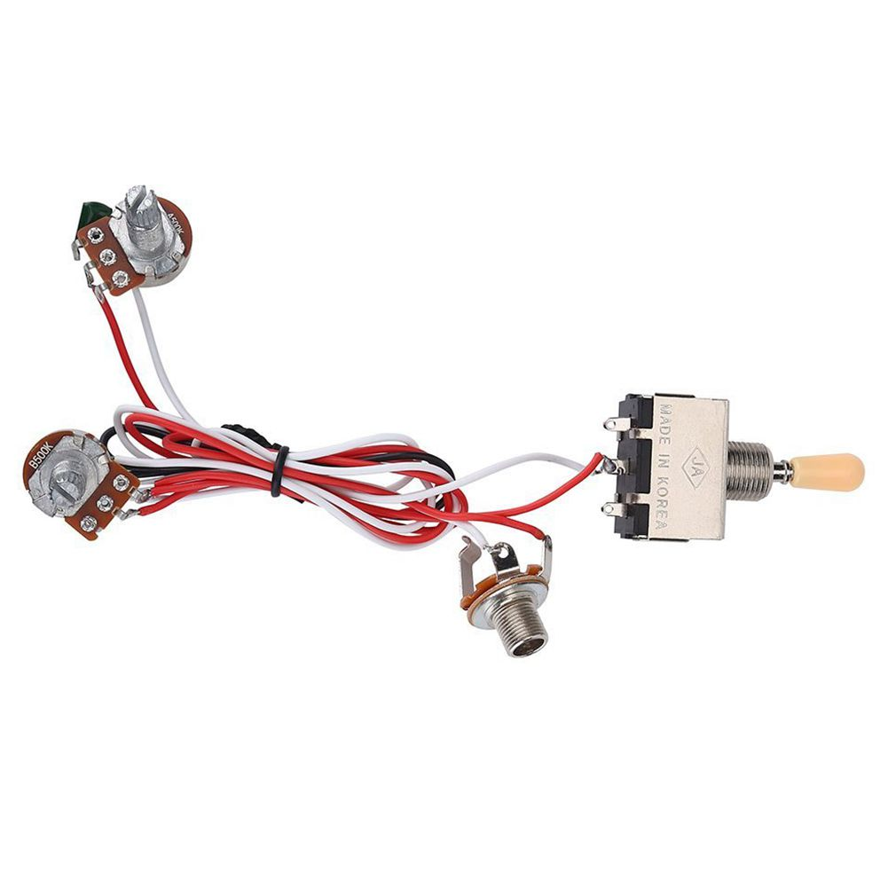 Generic Guitar Wiring Harness 3way Toggle Switch 1v1t 500k For Lp 2 Electric Humbucker Sylife