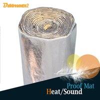Buildreamen2 4sqm 160 x 40 Автомобильный теплостойкий звукоизолирующий звукоизоляционный коврик с шумоизоляционным управлением Deadener Deadening для автом