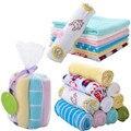 Pequeña toalla 8 unids/lote Plazoleta Pañuelo Toalla Suave Lindo Bebé Infantil Kid Niños Alimentación de Baño Lavado de Cara LA880862