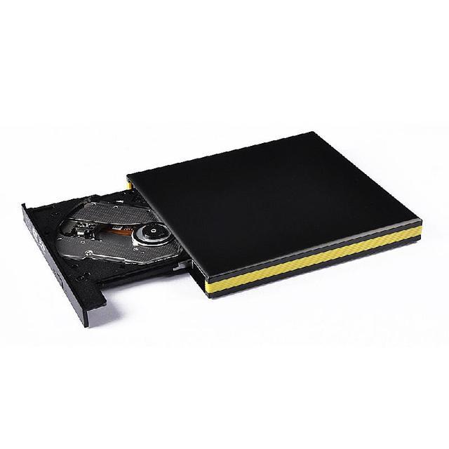 DVD Burner Drive USB Drive Aluminum External USB 3.0 Portable DVD-RW CD-RW DVD-ROM Burner Drive for Laptop PC Black