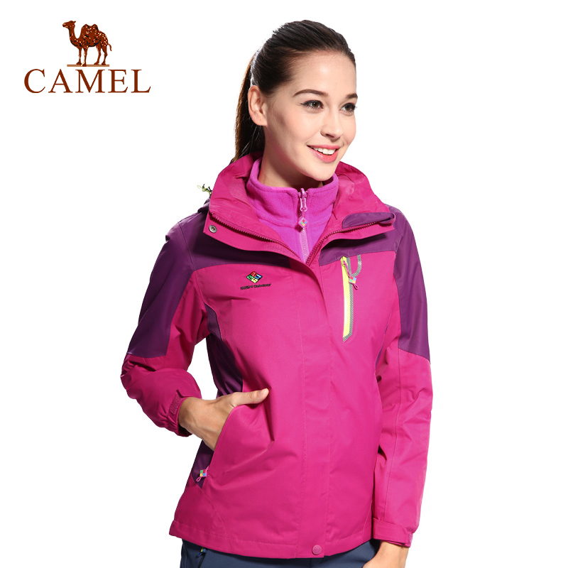 CAMEL Women Winter 2-Layer Hiking Jacket Waterproof Windproof Thermal Outdoor Sports Hiking Camping Sportswear Coat коляска recaro recaro прогулочная коляска easylife pink