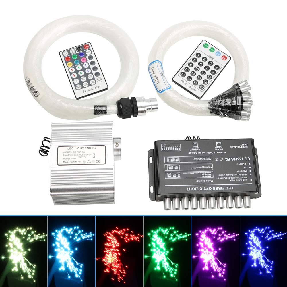 10W TWINKLE LED Fiber Optic Star Ceiling Kit 200pcs 0 75mm 3M 4M 5M 4pcs Shooting