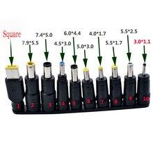 Ensemble de prises mâles multitypes de 1/2x2, 5mm 10 pièces, pour adaptateur dalimentation ca, connecteurs de câbles pour ordinateur, ordinateur portable, ordinateur portable