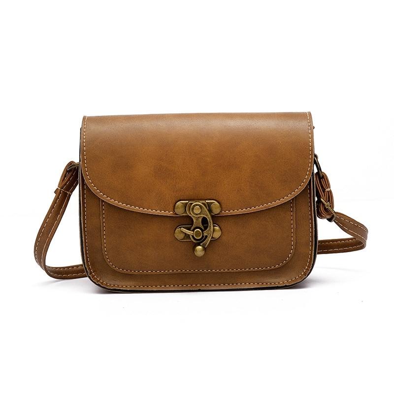 Lock Small Crossbody Bags Women Bag Fashion PU Leather Shoulder Bag Women Messenger Bag 2018 Vintage Single Strap