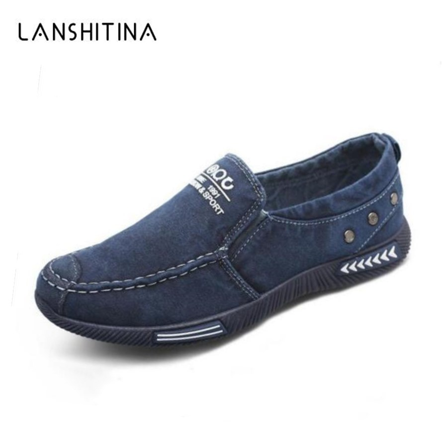 High Quality Canvas Men Casual Shoes Breathable Fashion Footwear Male Loafers Shoes Black Mens Shoes Sales Flats Walking Shoes hot sales new fashion dandelion spikes mens loafers high quality suede black slip on sliver rivet flats shoes mens casual shoes
