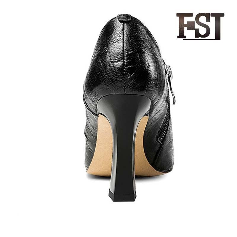 Cheville fsj01 De Chaussures Vache Fsj Femme Cuir Microfibre Bootsoffice Boucle Peau Équitation Porc automne Printemps Carrière Fsj02 Équestre Sangle Véritable En ZRwZC4np0q