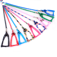Lead-Harness Leash Dog-Collars Safety Colorful Traction-Rope-Cloth Puppy-Dog Printing