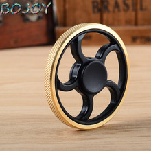 EDC copper finger Spinner Fidget Toys Pattern Hand Spinner Metal Fidget Spinner and ADHD Adults Children Educational gyro Toys