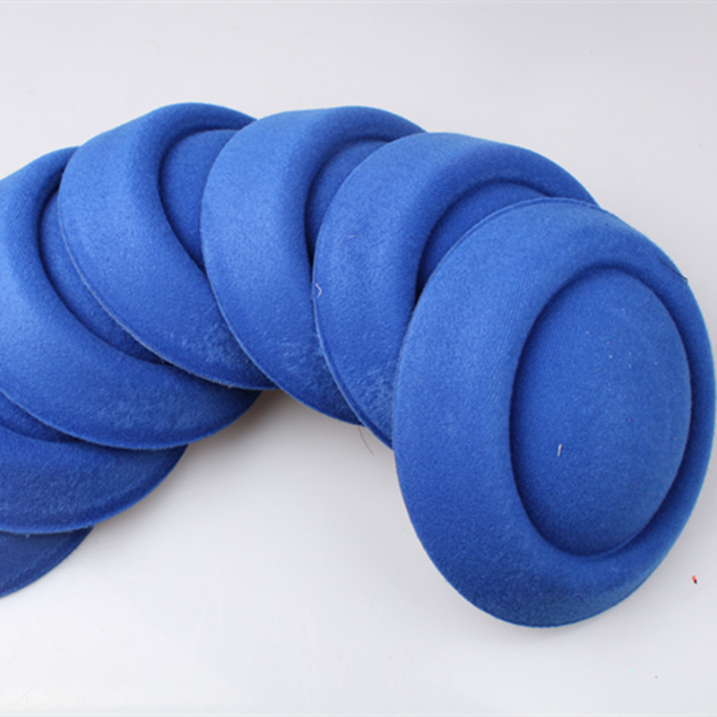 Free ship royal blue 16cm fascinator DIY millinery hair accessories pillbox fascinator b ...