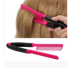 1Pcs Fashion V Type Hair Straightener Comb DIY Salon Hairdressing Styling Tool Comb