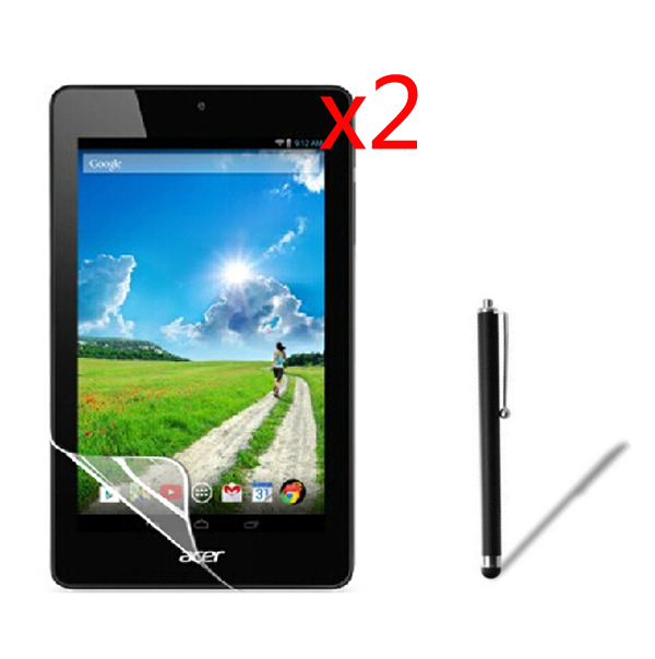 2x film +2x cloth +1x Stylus,Anti-Glare Matted Screen Protector Protective Matte Films For Acer Iconia One 7 B1-730 HD B1 730 7