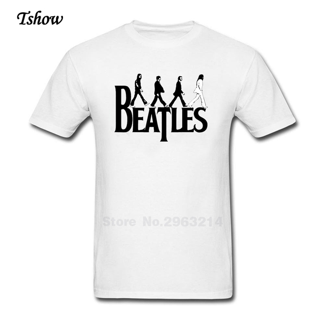 The Beatles Logo Transparent Tshirt Men Casual Summer Print 100 Cotton Mans Tops O