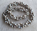 Perfect Pearl Necklace ,Charming Gray Color Baroque Shape 100% Real Freshwater Pearl Necklace, AA 6-7MM 16-20 inches