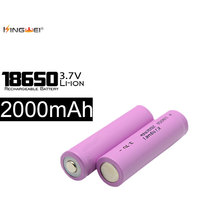 KingWei Pink 10Pcs Real Capacity 2000mAh 18650 Battery 3.7v Rechargeable Li ion Battery For LED Flashling Torch